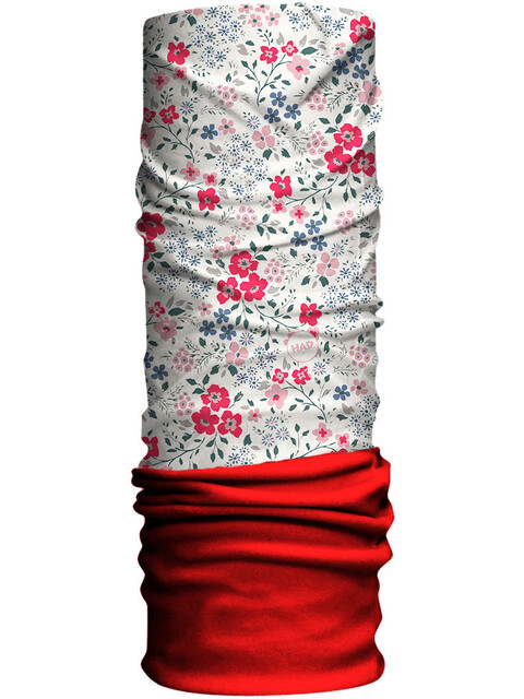 HAD Fleece Tube Scarf Kids blumen/red fleece